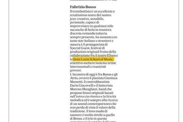 Fabrizio Bosso e Atrio eliseo