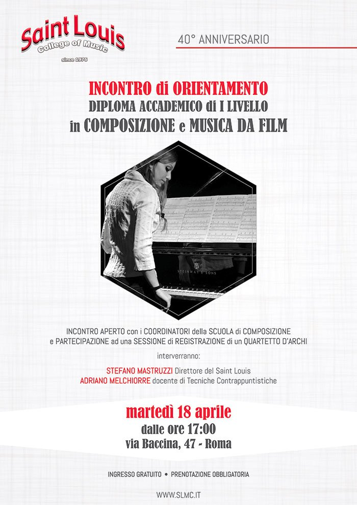 Orientamento Composizione E Musica Da Film Locandina