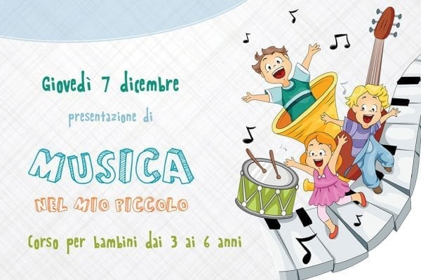 Musica Nel Mio Piccolo – Corso Per Bambini Dai 3 Ai 6 Anni
