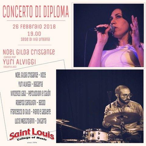 Concerto di Diploma di Noel Gilda Cristante e in Batteria Jazz di Yuri Alviggi